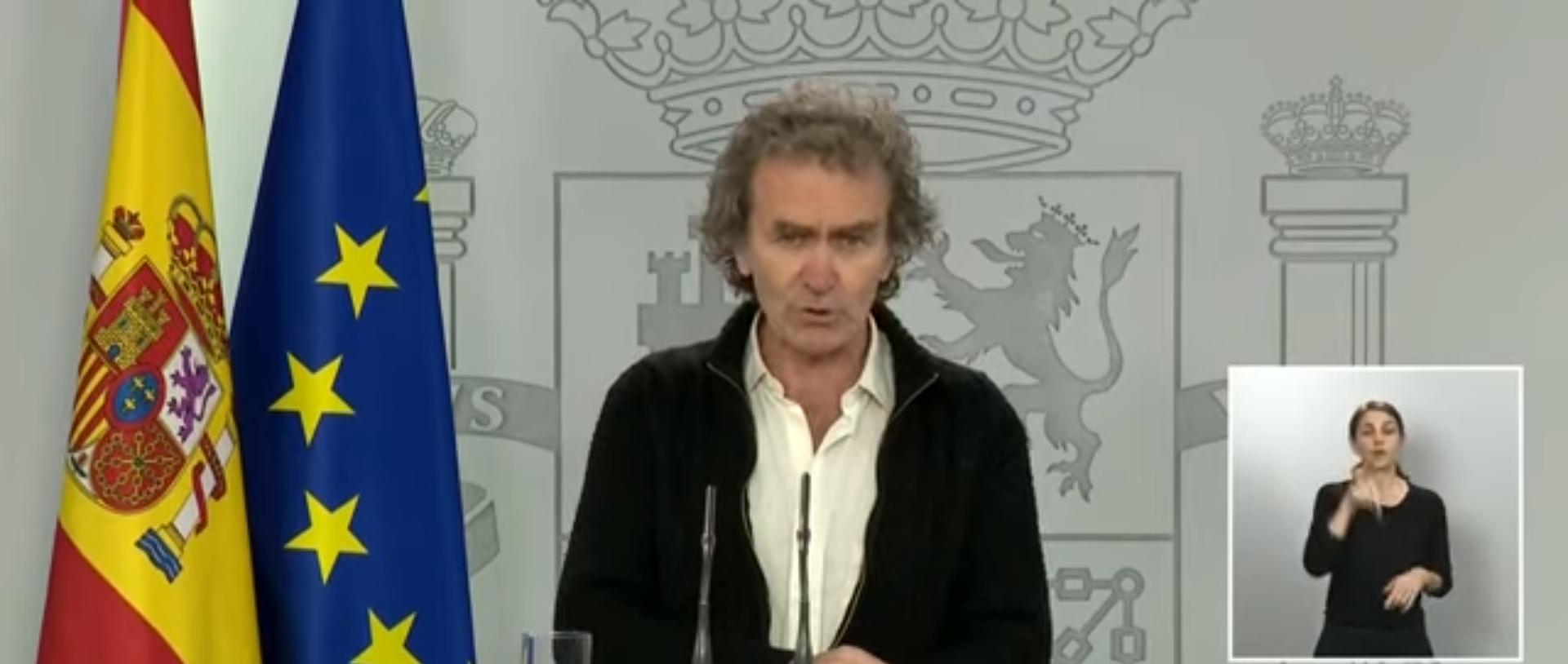 Fernando Simón a una roda de premsa del Ministeri de  Sanitat
