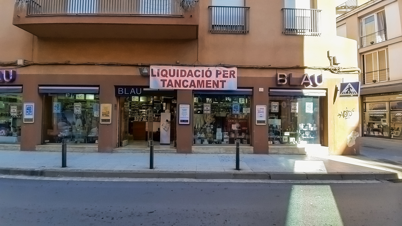 Comerç amb liquidació per tancament a Mataró