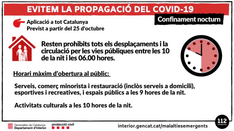 "Mesura del ""confinament nocturn"""
