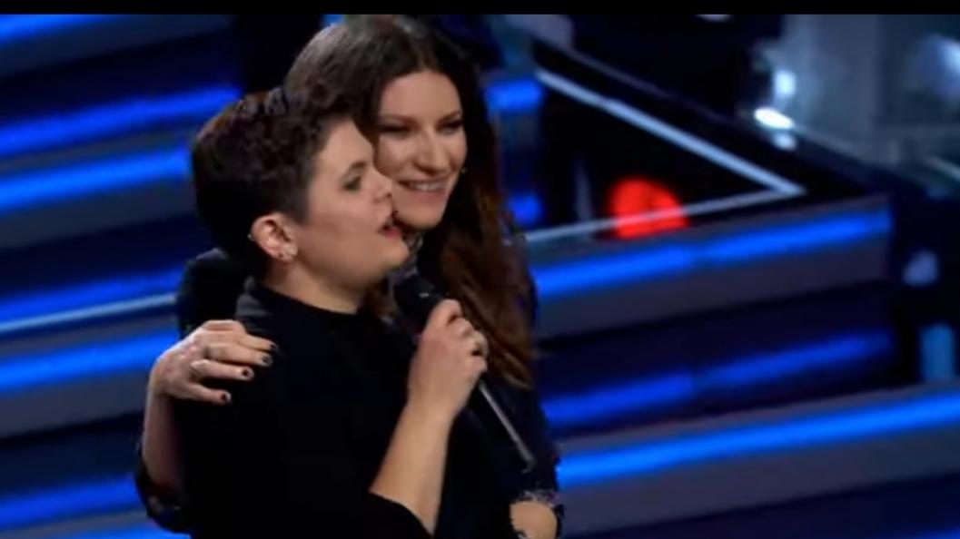 Mireia Cuesta i Laura Pausini a La Voz