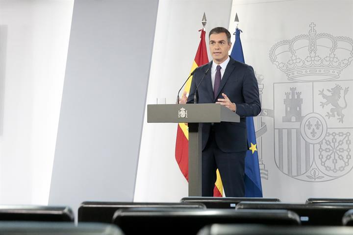 Pedro Sánchez en comparexença el 23 d'octubre 2020