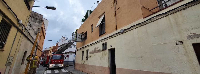 Sostre esfondrat barri Cerdanyola. Foto: Mataró Audiovisual