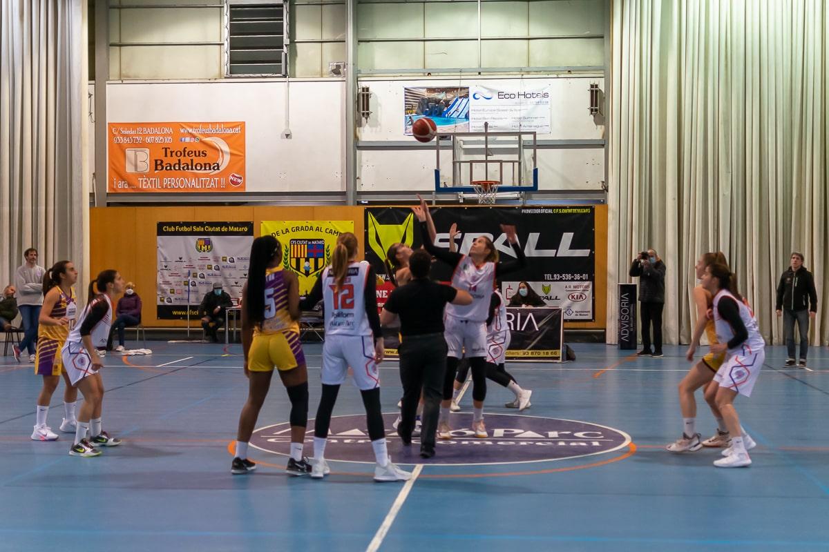 Partit Advisoria maresme Boet davant Germans Homs Unió Esportiva Mataró de la Liga Femenina 2