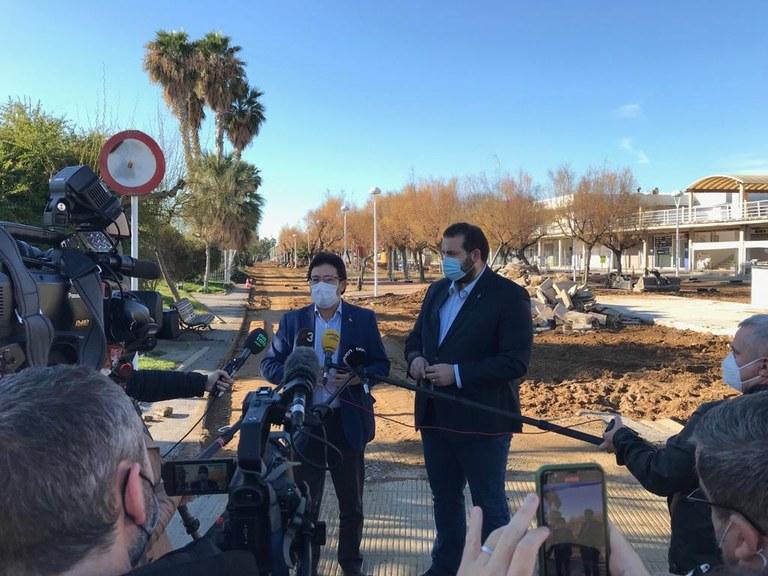 David Bote i Isidre Gavín en roda de premsa. Foto: Ajuntament Mataró