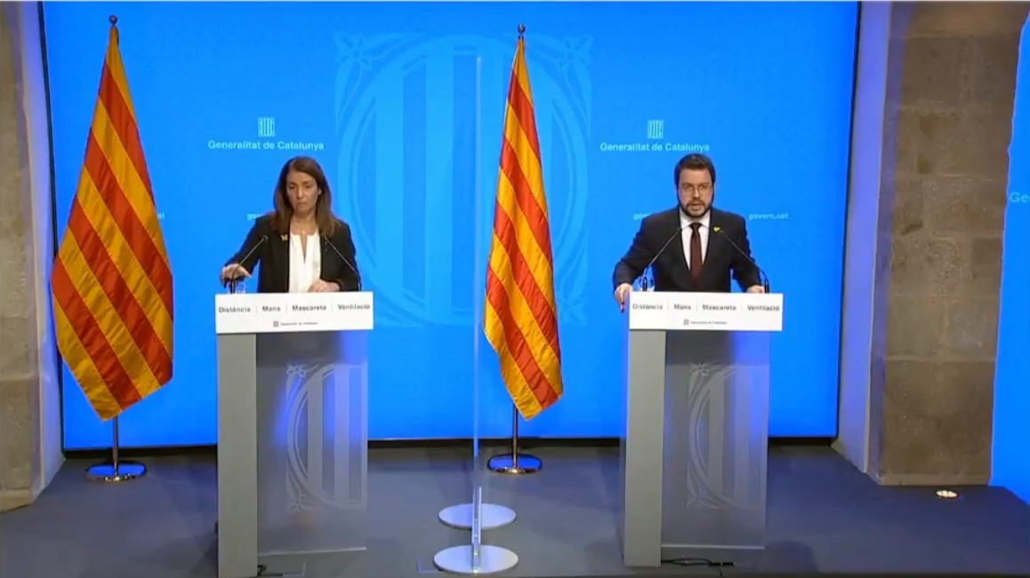 Roda de Premsa govern de Catalunya