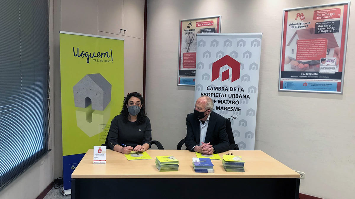 Signatura col·laboració Servei Habitatge i Cambra de la Propietat Urbana de Mataró