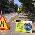 Inici d'obres de l'anella ciclista de Mataró